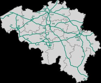 Motorvägar i Belgien