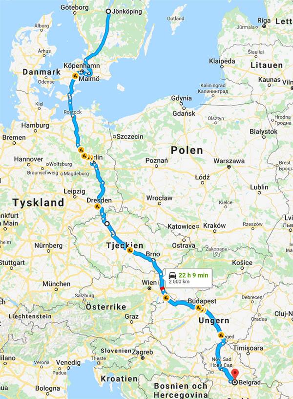 Bila till Belgrad