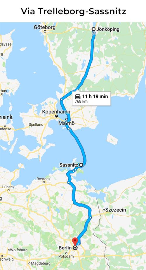 Bila till Berlin via Sassnitz