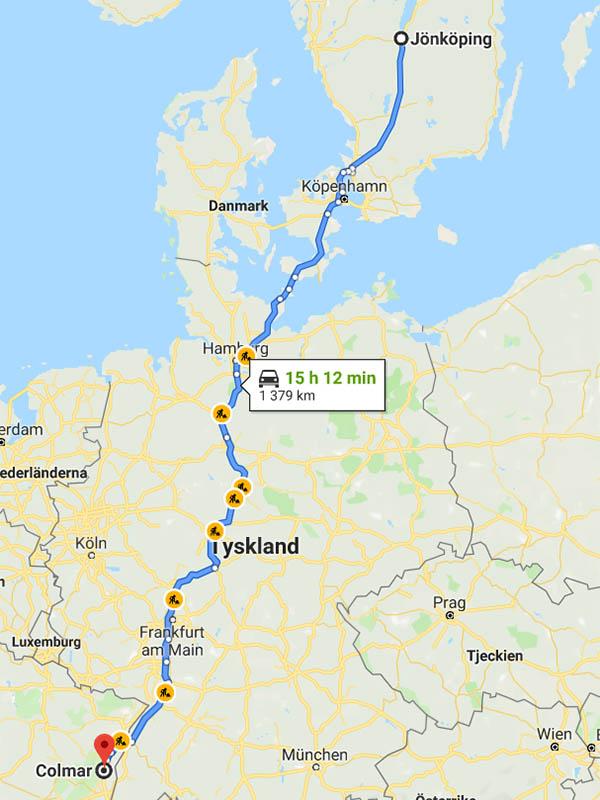 Karta - Bila till Colmar