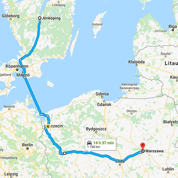 Bila till Warszawa