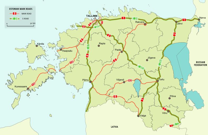 Vägar i Estland