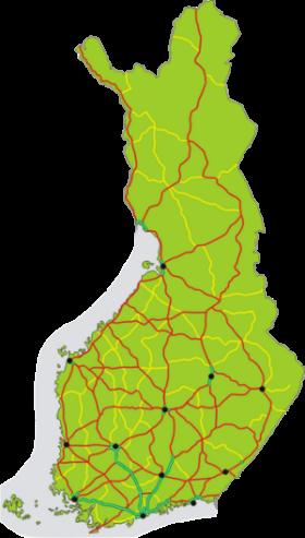 Vägar och motorvägar i Finland