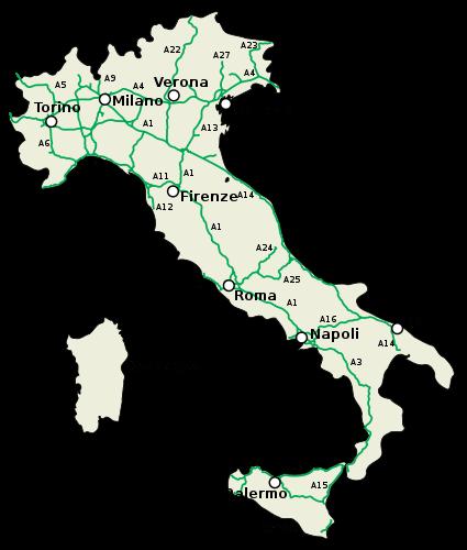 Motorvägar i Italien