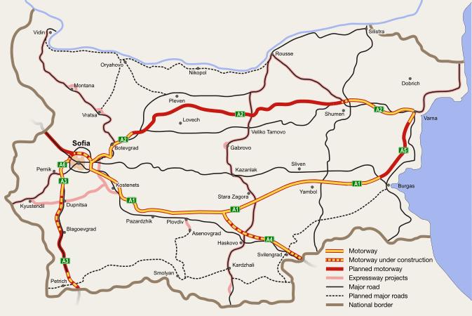 Motorvägar i Bulgarien