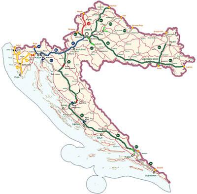 Motorvägar i Kroatien