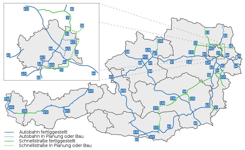 Motorvägar i Österrike