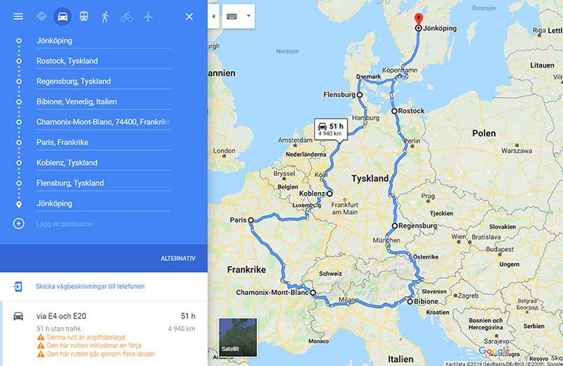 Reseplanering Med Google Maps Bilsemester Net