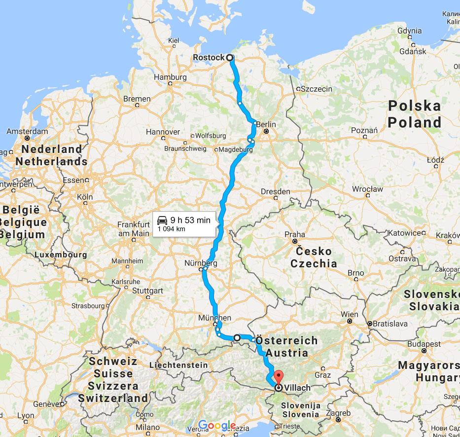 Karta Nord Italien.Rutter Och Resvagar I Europa Bilsemester Net