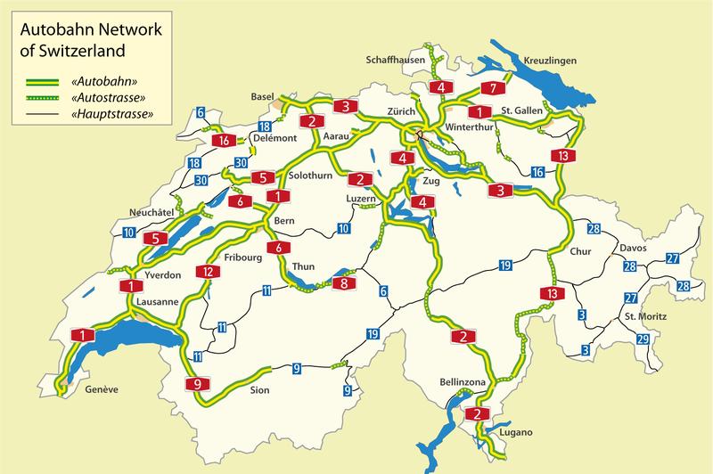 Motorvägar i Schweiz