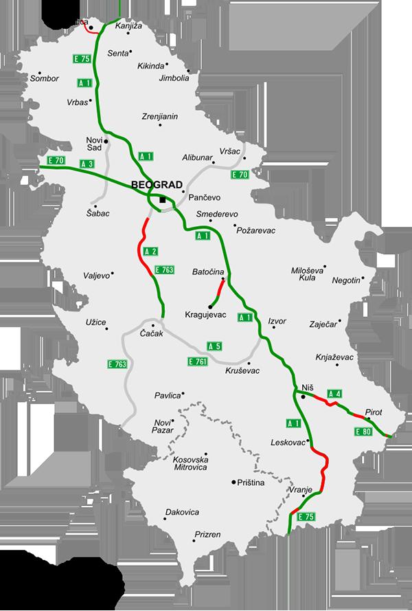 Motorvägar i Serbien