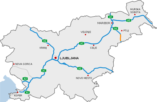 Motorvägar i Slovenien