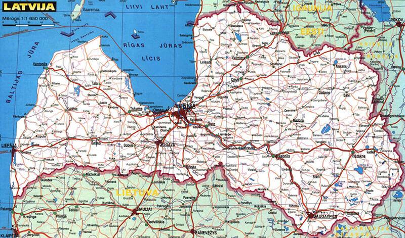 Vägar i Lettland
