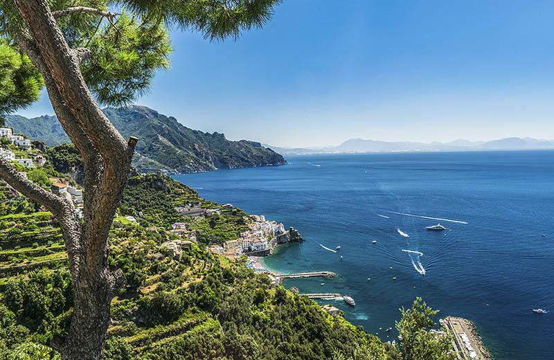 Amalfikusten och Medelhavet