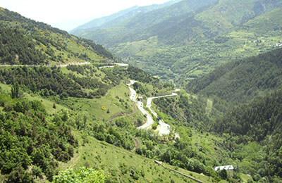 Bergsväg i Andorra