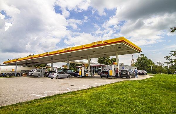 Bensinstation bensinpriser