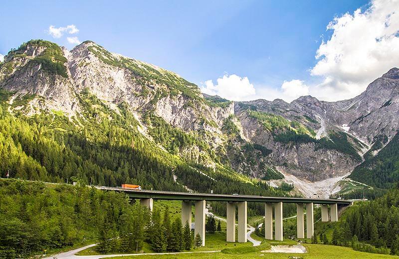 Österrikiska motorvägen A10 i närheten av Salzburg
