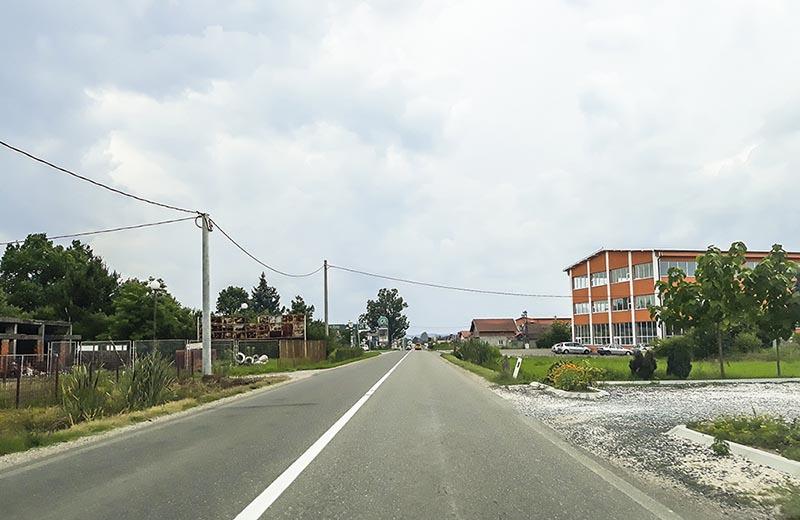Landsväg i Serbien