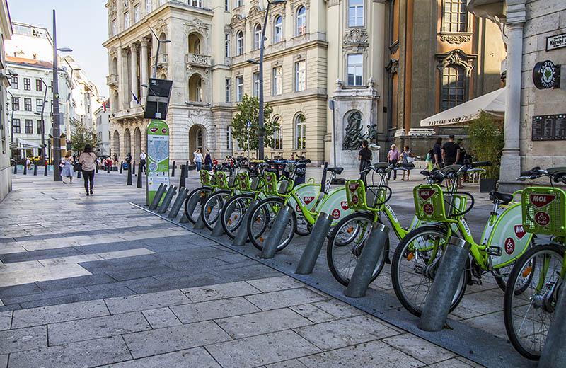 Hyrcyklar i Budapest