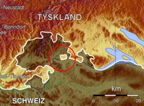 Karta över Büsingen