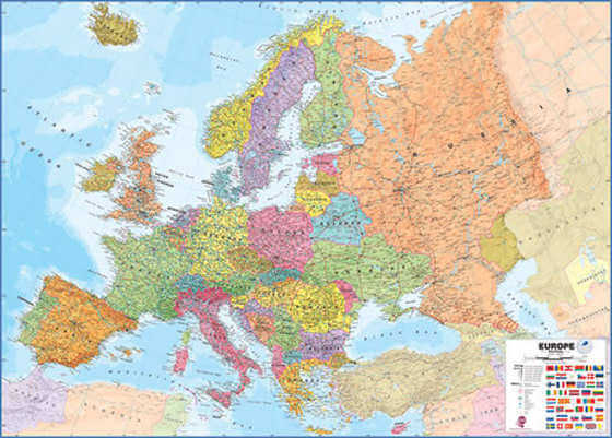 Europakarta Med Sevardheter Stader M M Europakarta Net