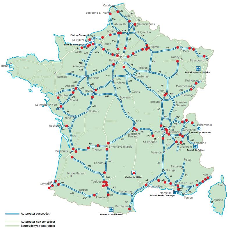 Motorvägar i Frankrike