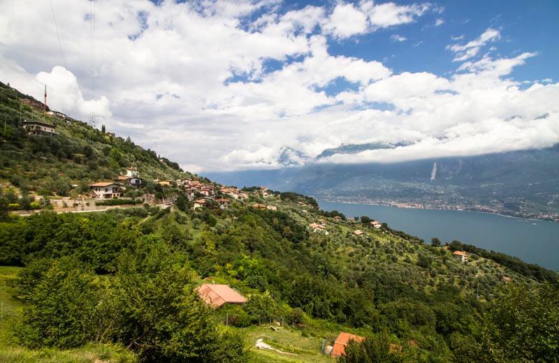 Utsikt över norra delen av Gardasjön