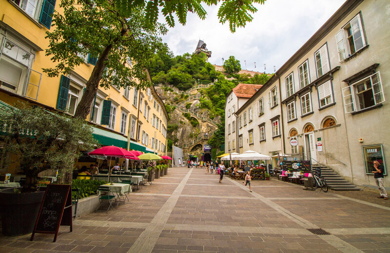 Trappan upp till Schlossberg