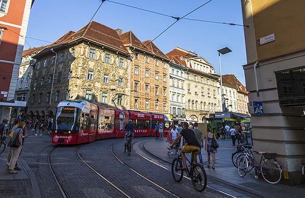 Spårvagn i Graz