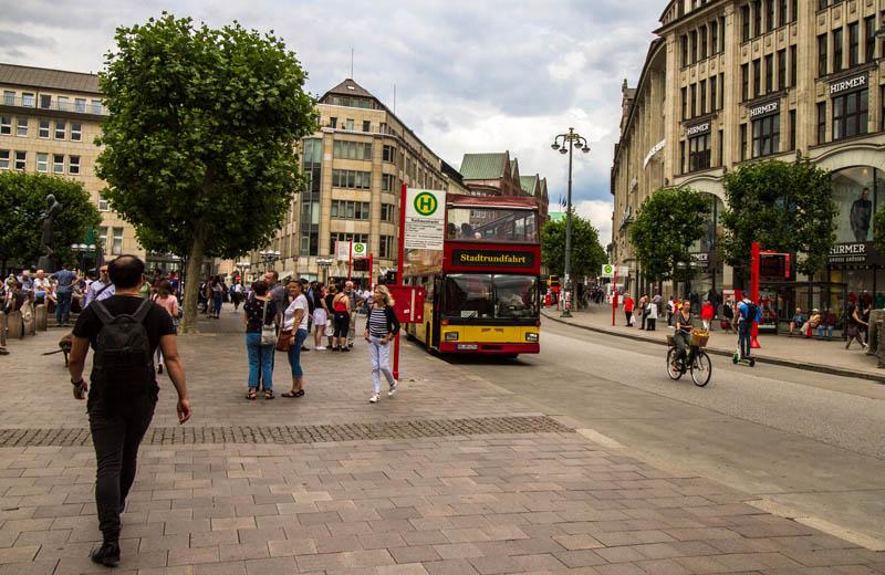 Sightseeingbuss i Hamburg
