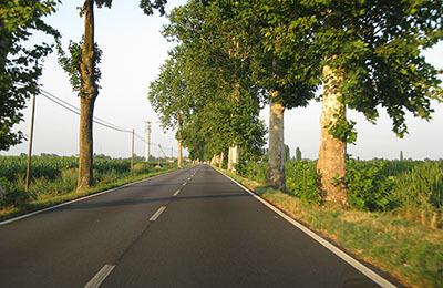 Landsväg i Italien