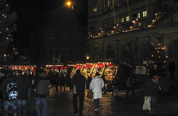 Marknadsstånd i Rothenburg