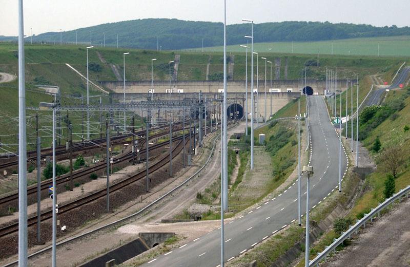 Kanaltunneln mellan England och Frankrike