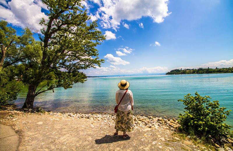 Vy över Bodensjön från Mainau