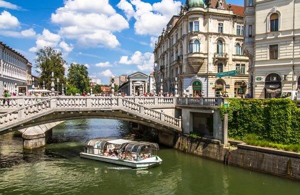 Båtkryssning på Ljubljanica