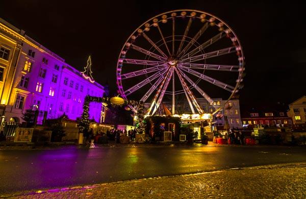 Pariserhjulet och marknaden id Koberg