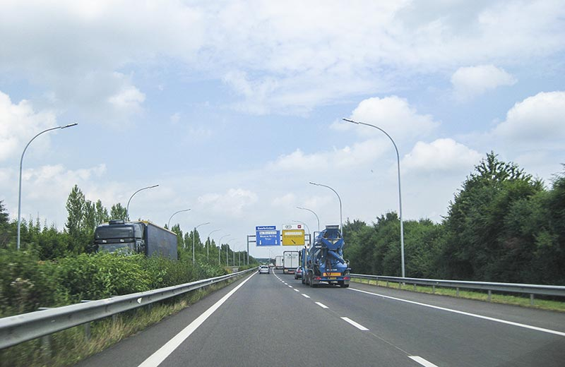 Motorväg A1 i riktning mot Wasserbillig