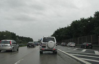 Motorväg utanför Saarbrücken