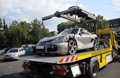 Olycka på Autobahn