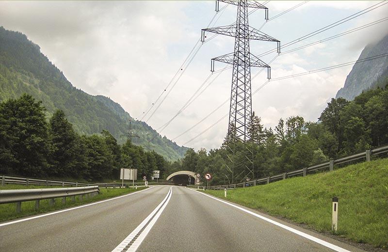 A2 i Österrike, riktning Villach.