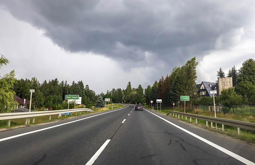 Landsväg i Polen