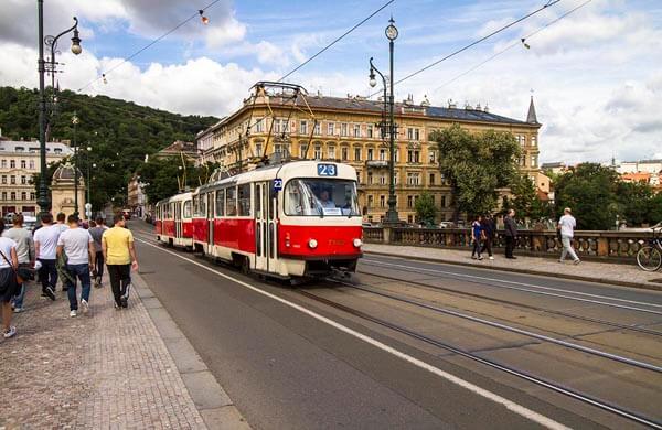 Kollektivtrafik Prag