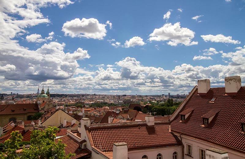 Prag från Toskánský-palatset