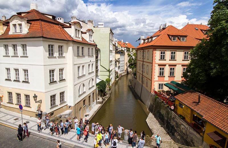Čertovka-kanalen Prag
