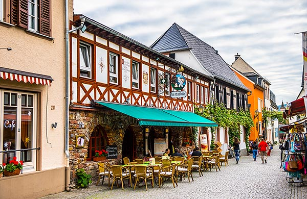 Rüdesheim am Rhein i Rhendalen