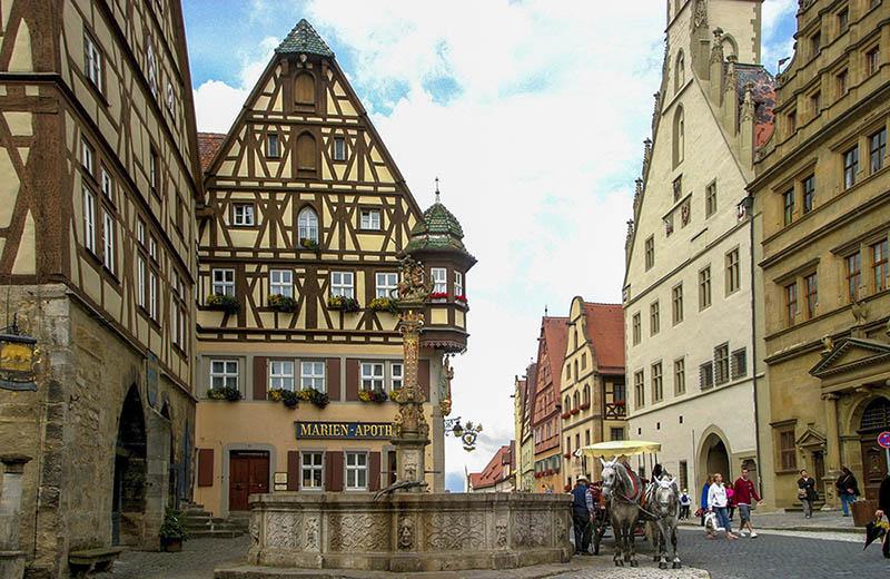 Romantiska vägen Rothenburg