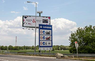 Informationsskylt för Slovakien