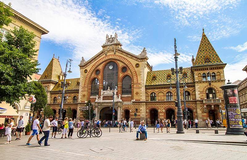 Stora saluhallen i Budapest