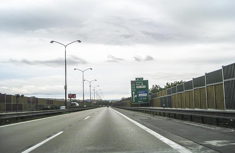 Motorväg i utkanten av Brno