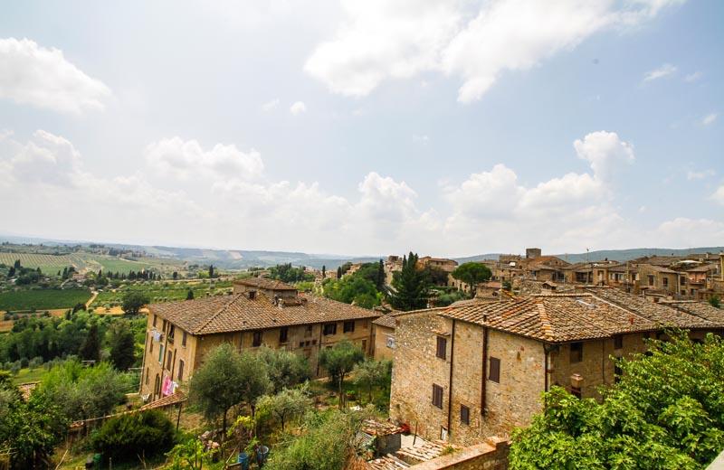 Vy över Toscana